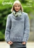 Knitting Pattern - Wendy 6075 - Harris Super Chunky - Scoop Top Sweater